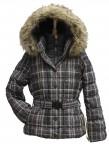 Куртка пуховая для девушки 237964 (CHECK NOIR)