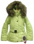 Куртка подростковая для девочки 240716(lime green)