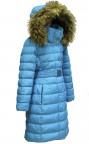 Пальто пуховое 240734 (blue lagune)