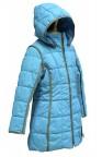 Пальто мембранное для девушек 240736 (BLUE LAGUNE)