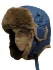POIVRE BLANC Шапка ушанка для мальчика 238056 (BLUE PROFOND)