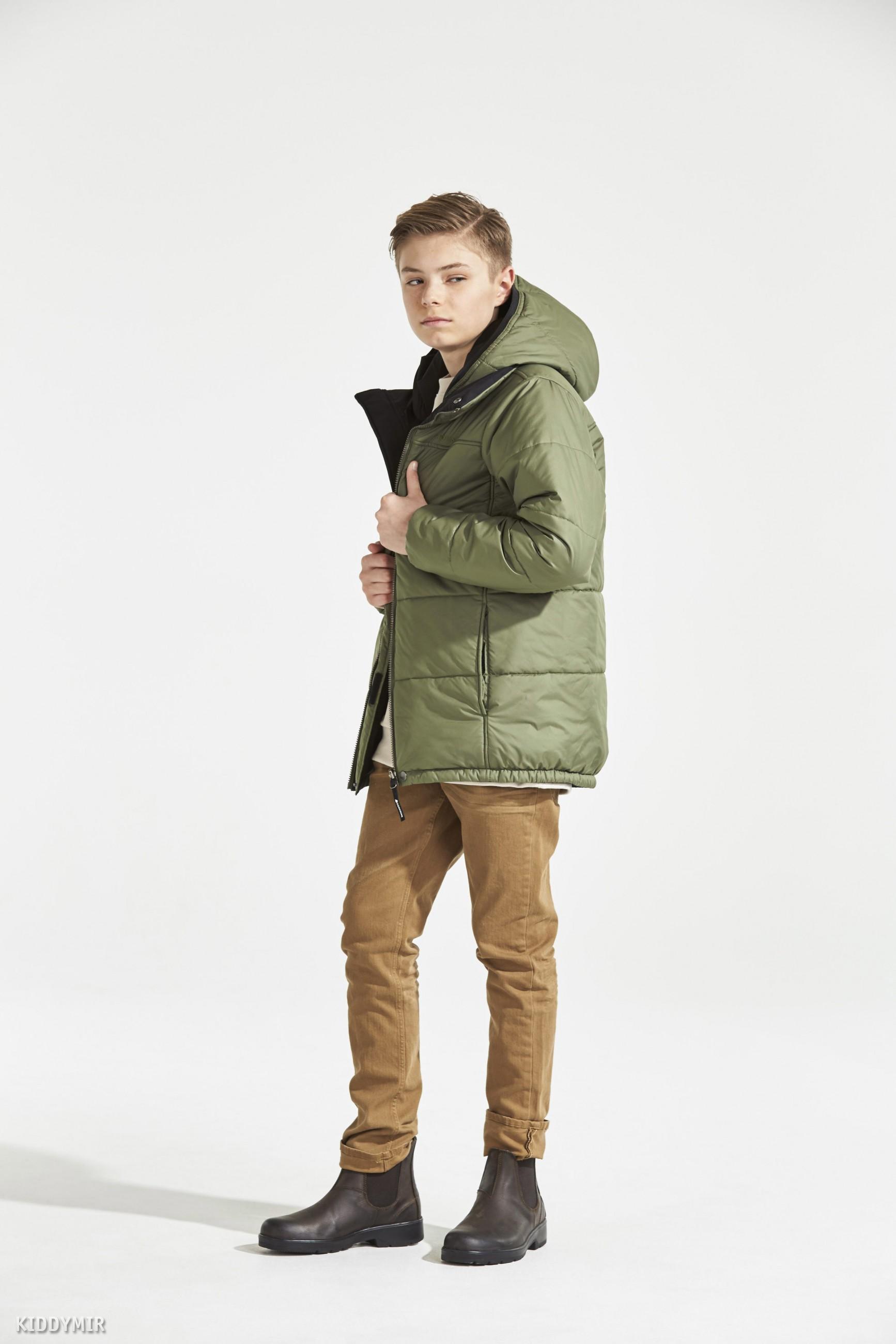 DIDRIKSONS Куртка для юноши двухсторонняя PALANDER 501909(161)серо-зелёный b9a626982cf