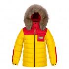 POIVRE BLANC Куртка пуховая 240784 (taxi) жёлтая