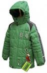 куртка  удлиненная для мальчика 240779(green) зеленая