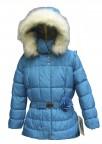 Куртка пуховая для девочек 240770(blue lagune)