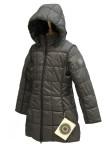 Пальто мембранное для девушек 240736 (PETROL GREY)