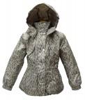 удлиненная куртка для девочки 241178(mermaid beige/ white) беже