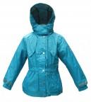 удлиненная куртка для девочки 241178(lake blue)  бирюзовая