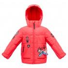 Poivre Blanc куртка с нашивками  для мальчика 263686(skarlet red) красная