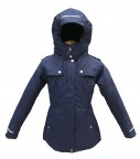куртка удлиненная для девочки 266727(Синий)