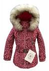 Куртка мембранная для девочки 268793(punch pink leopard)