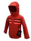 куртка с полосками на груди  для мальчика 268814(scarlet red2/ne