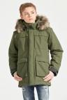Куртка для юноши NORDENSKIOLD 501907(161) серо-зелёный