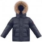 куртка пуховая для мальчика 268823 (gothik blue2) темно-синяя