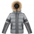 Куртка пуховая для юноши 268787 (medium grey melang/black)