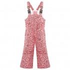 Брюки на лямках для девочки 268796(punch pink leopard)