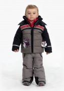 куртка с нашивками и шевронами  для мальчика 274084(gothic blue3