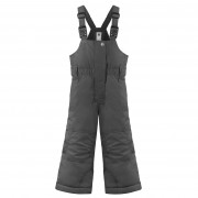 Брюки на лямках для девочки 274063(graphite grey)