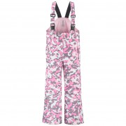 Брюки на лямках для девочки 274021(pink camou)