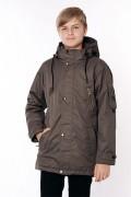 Куртка демисезонная для мальчика 3880 (серо-коричневый)
