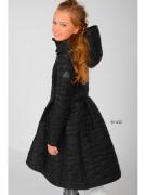 Пальто для девочки демисезонное 81632BLACK