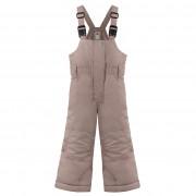 Брюки на лямках для девочки 279637(rock brown)