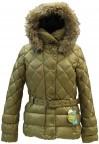 Куртка  пух с искусственным мехом 233103(CHECK GOLD)